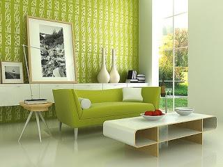 decoracion verde lima salon