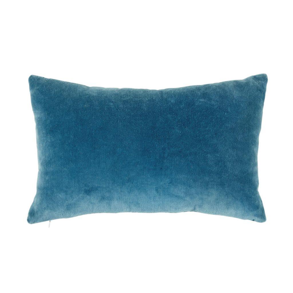 cojines terciopelo azul para dormitorio rosa
